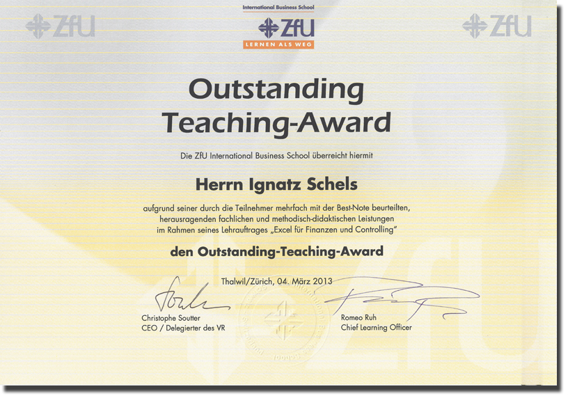 ZFU Teaching Award 2013